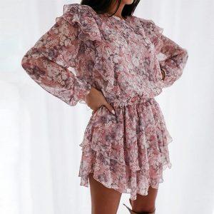 Hippie Short Flowery Girl Dress
