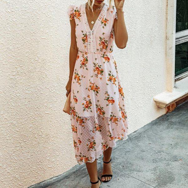 Bohemian long dress summer 2019