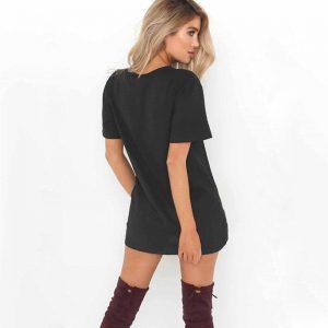 Short black bohemian dress