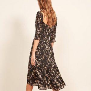Black bohemian long dress