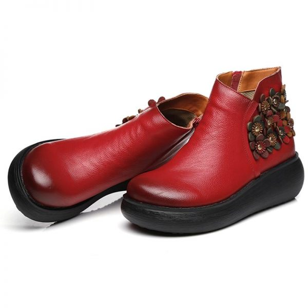 Bohemian Boots with Platform Soles
