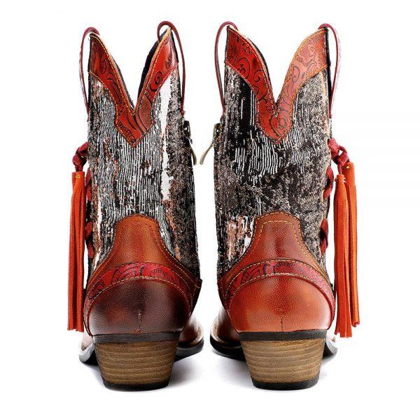 Indian Fringe Boots
