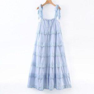 Bohemian embroidery dress