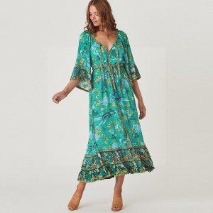 Hippie chic dress for women