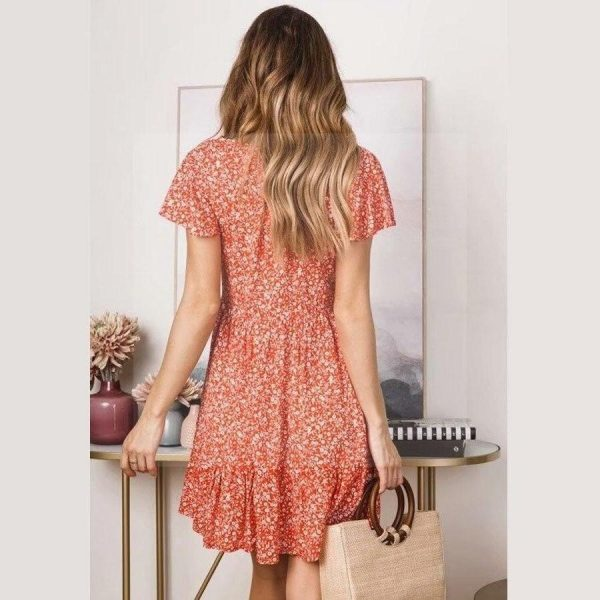 Orange hippie dress