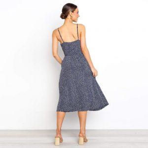 Bohemian straight maxi dress