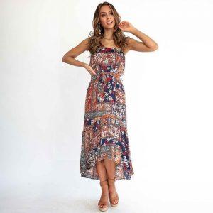 Bohemian chic hippie maxi dress