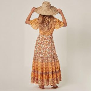 Long dress boheme muslin