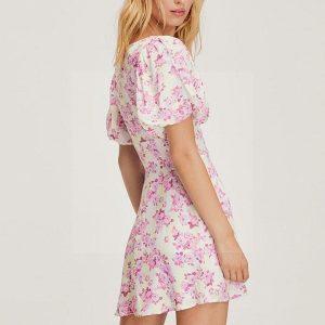 Pink hippie chic maxi dress